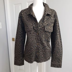 🆕✨ Sanctuary  Jacket Brown Coffee Leopard Size L
